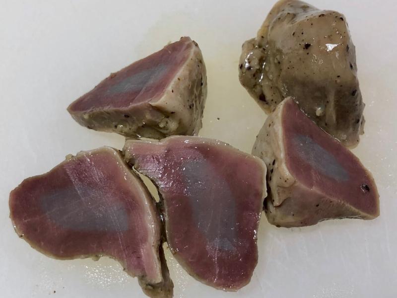 低温調理で鶏砂肝の温度比較51