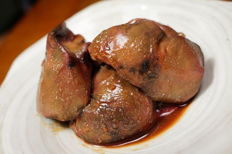 低温調理で鶏レバーを調理9