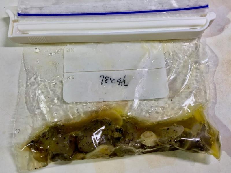 低温調理で鶏砂肝の温度比較21