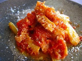 トリッパ(ハチノス)のトマト煮込み