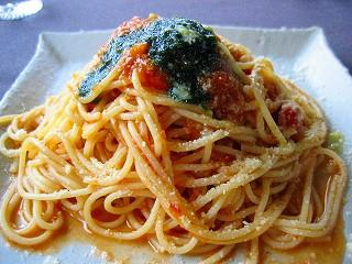 トマトバジルのスパゲティ