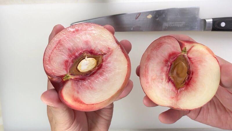 桃のむき方4