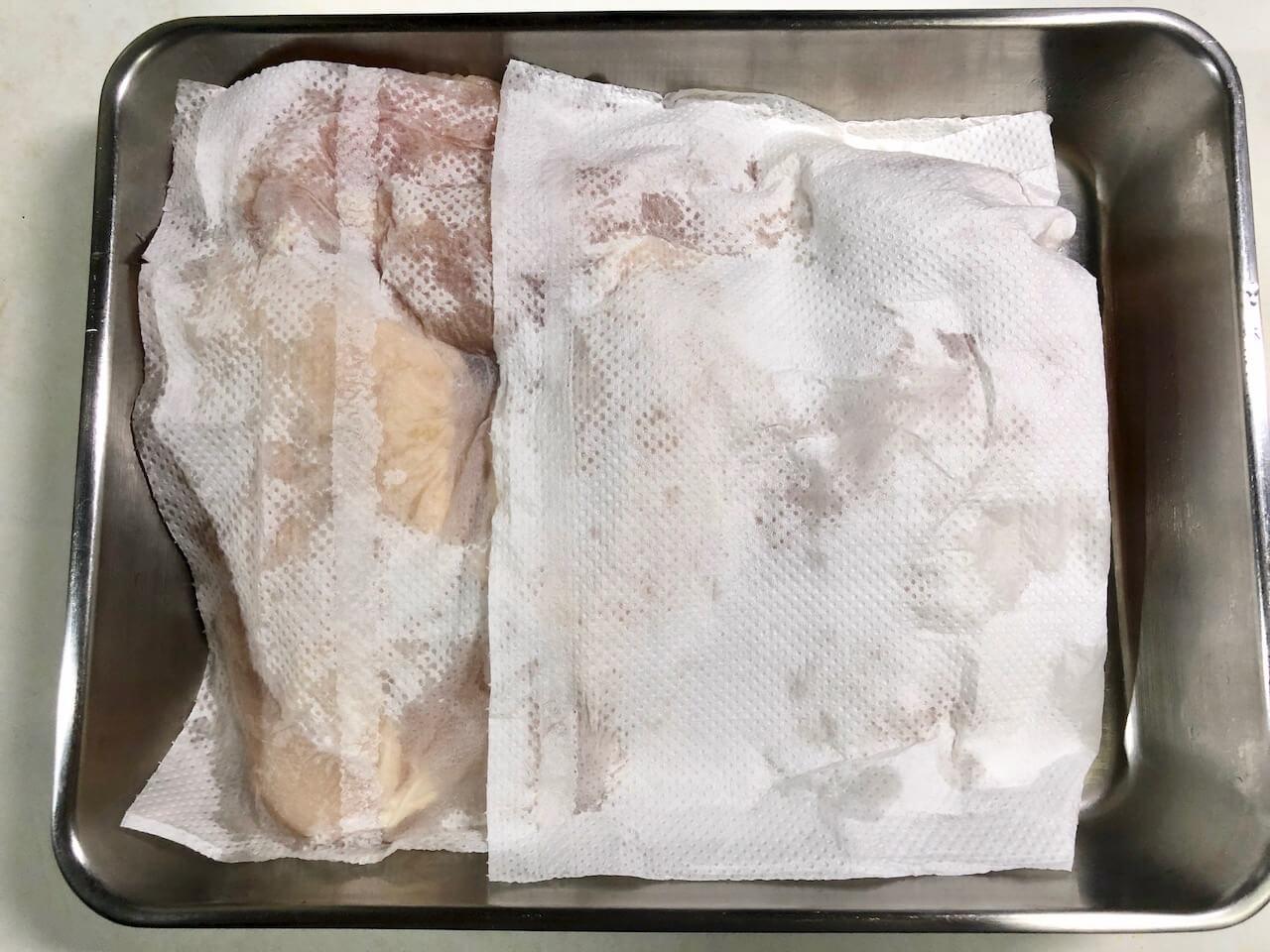 低温調理で鶏胸肉のステーキの作り方2
