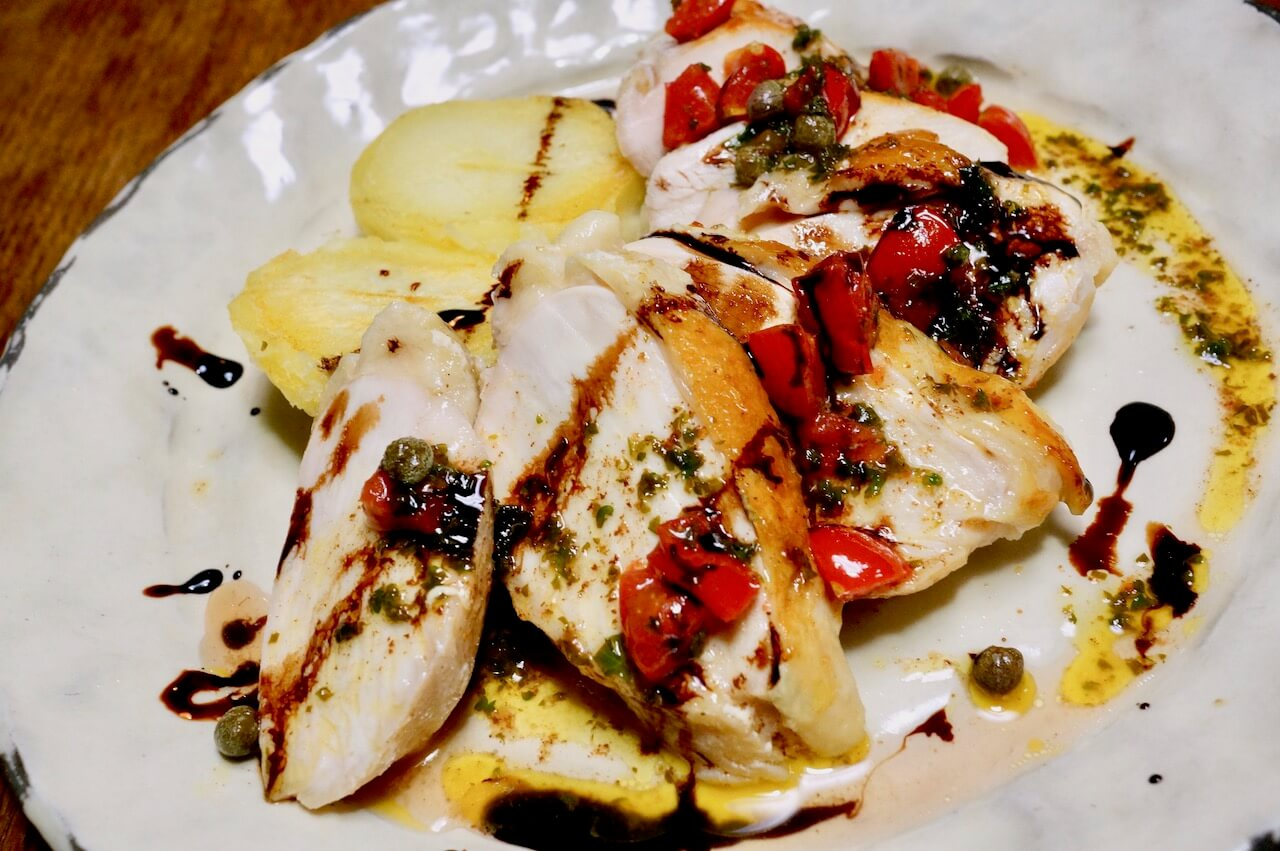 低温調理で鶏胸肉のステーキの作り方22