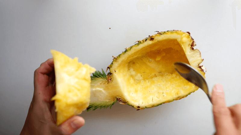 パイナップル飾り切りボート7