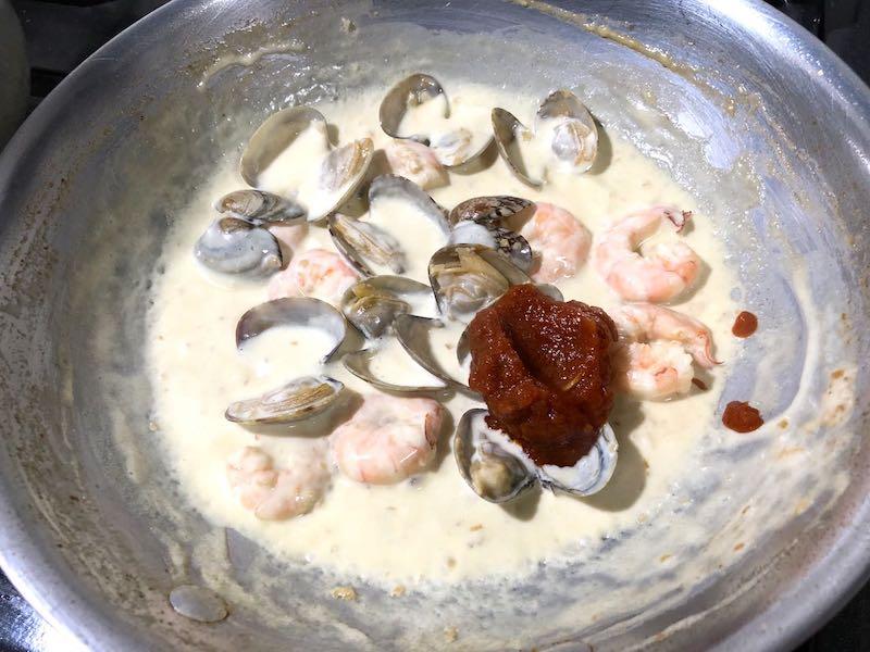 小エビとアサリのスパゲッティの作り方8