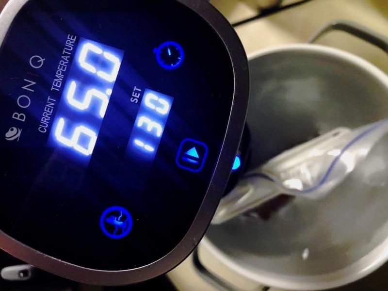 低温調理で牛ヒレステーキ53