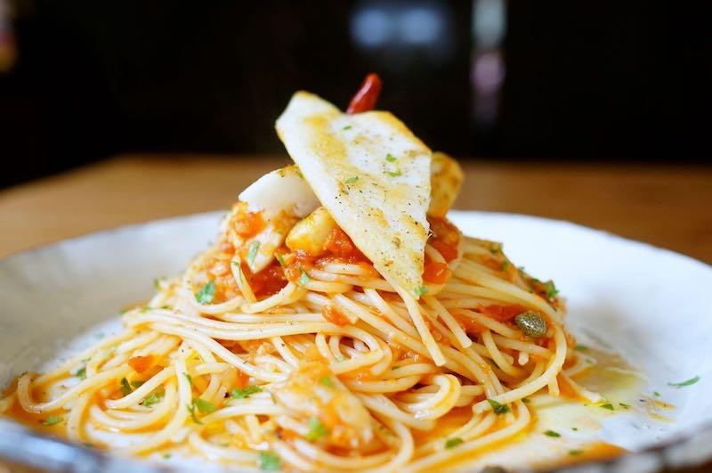 白身魚トマトソーススパゲッティ10