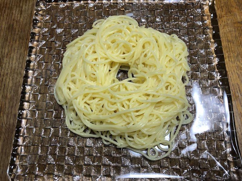サラダチキンと温泉卵の冷製親子カルボナーラ21