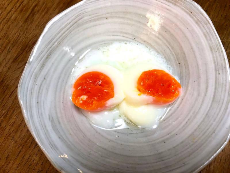 BONIQボニークでの低温調理温度卵10