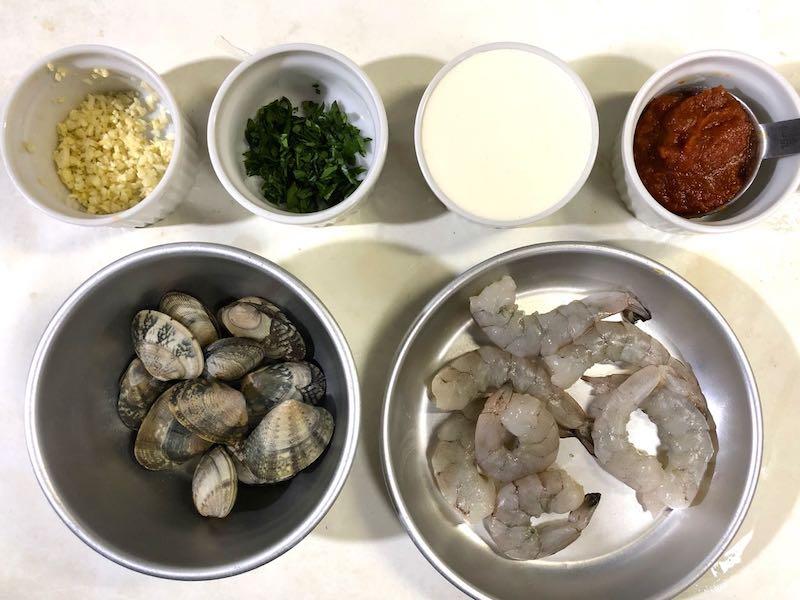 小エビとアサリのスパゲッティの作り方