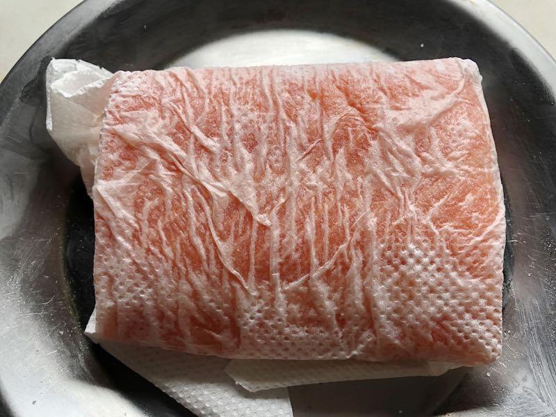 低温調理でサーモンを調理22
