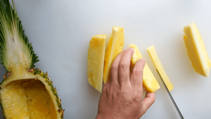 パイナップル飾り切りボート6
