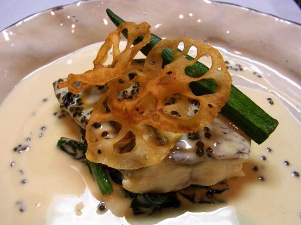 真鯛のキャビアソース
