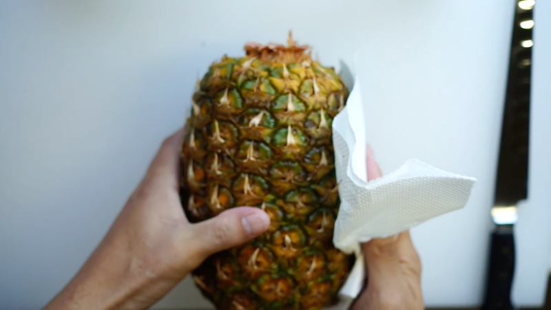 パイナップルの切り方-5