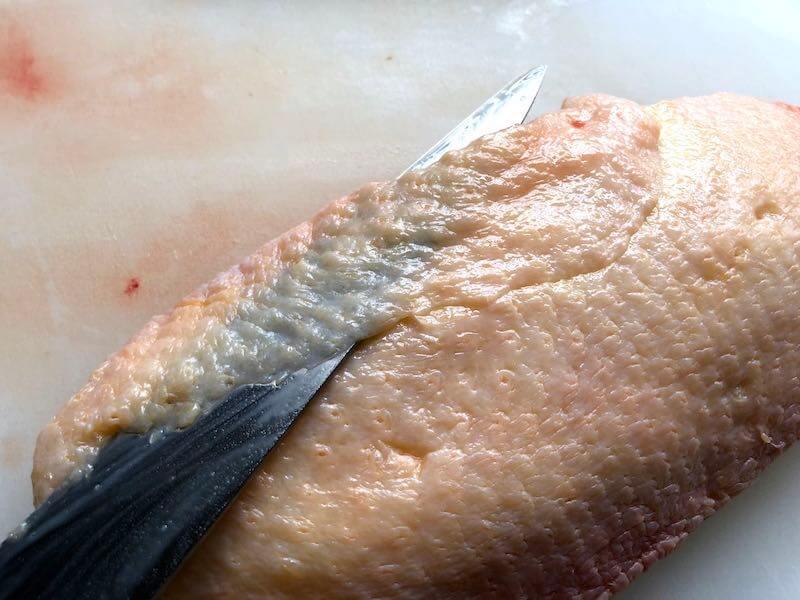 鴨胸肉の下処理19