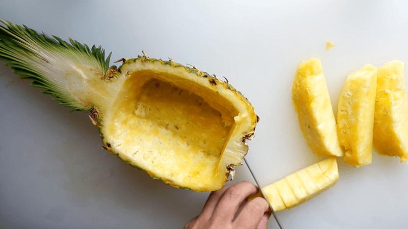 パイナップル飾り切りボート8