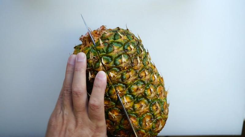 パイナップルの切り方-6