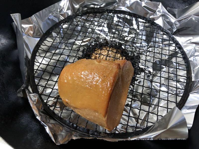 サラダチキンと温泉卵の冷製親子カルボナーラ11