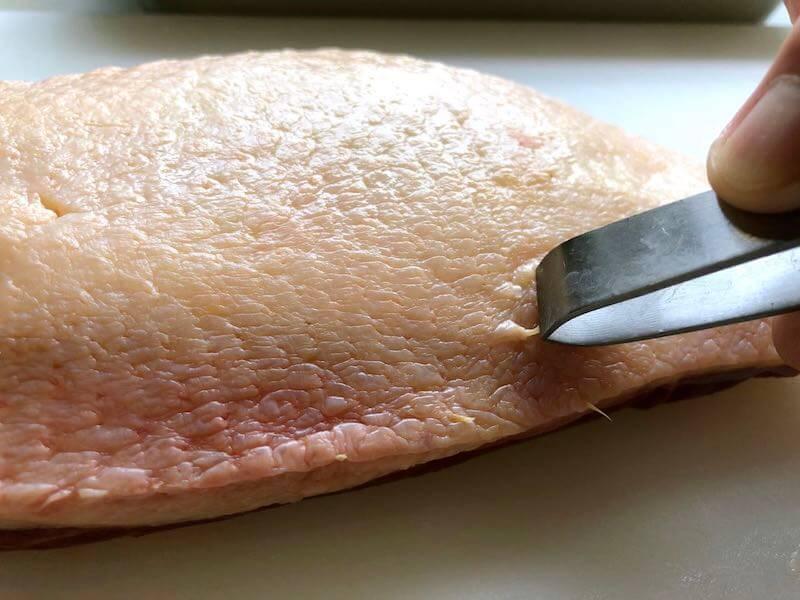 鴨胸肉の下処理14