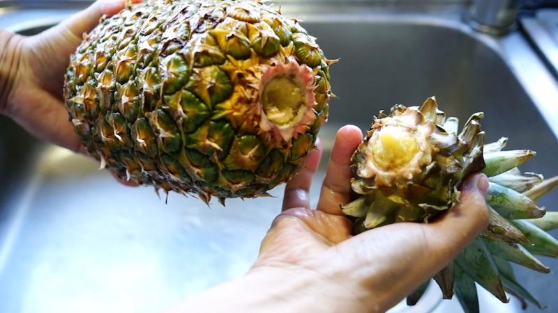パイナップルの切り方-4