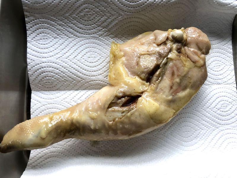 低温調理鶏もも肉のコンフィの作り方4