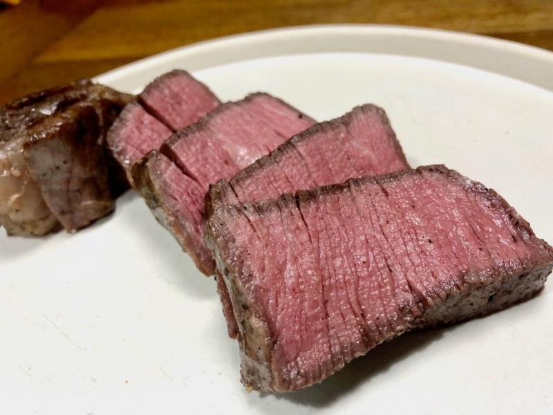 低温調理で牛ヒレステーキ37