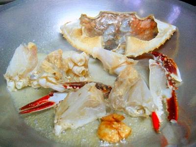渡り蟹のスパゲティ1