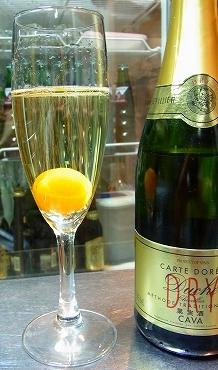 金柑シャンパン