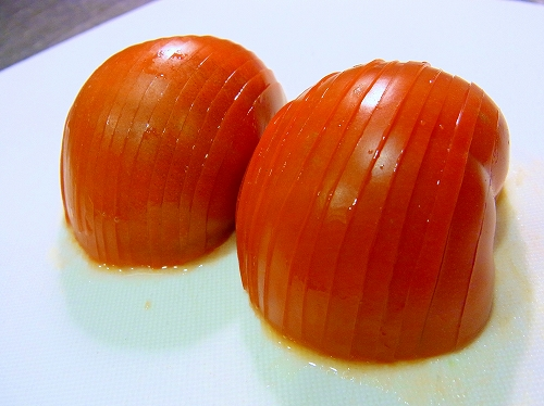 フルーツトマトの焼きブルスケッタ6
