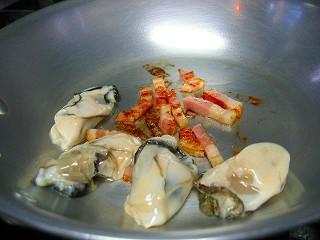 牡蠣とベーコンのスパゲティ3