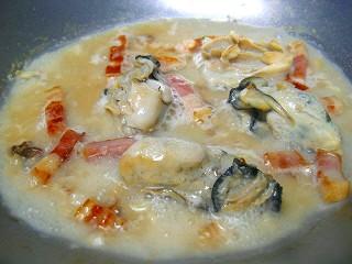 牡蠣とベーコンのスパゲティ5